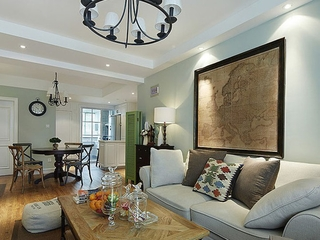 90平三室两厅住宅欣赏客厅