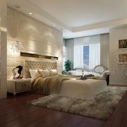 温馨三口之家 卧室背景墙装修效果图
