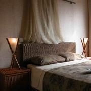 东南亚复式卧室床品设计