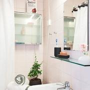 36平清新简约一居室欣赏洗手间