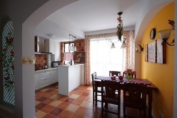 开放式厨房橱柜效果图 打造时尚家居