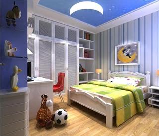 78平简约温馨两居室住宅欣赏儿童房