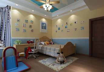 79平美式住宅欣赏儿童房
