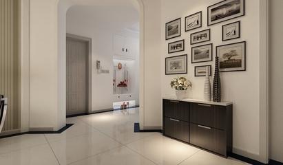 102平简约三居室设计欣赏过道室内门