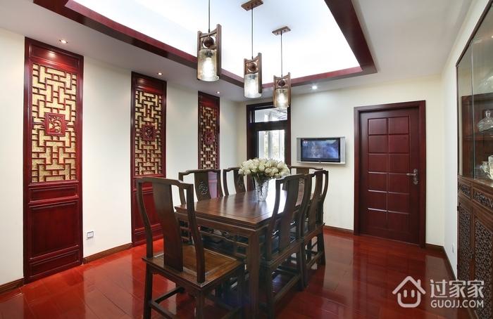 餐厅中国风木质隐形门