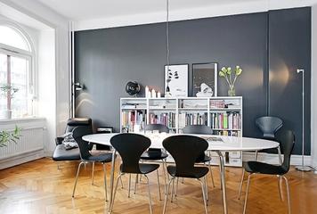 73平白色北欧两居欣赏餐厅设计