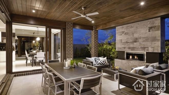 现代260平豪华别墅欣赏庭院
