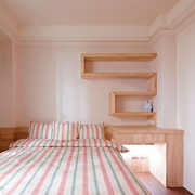 124平日式风格住宅欣赏卧室陈设