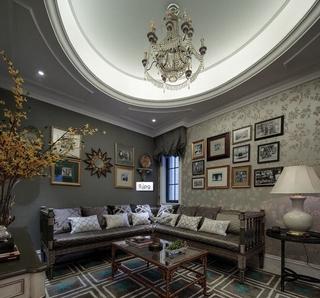 白色尊贵欧式住宅欣赏家庭厅设计