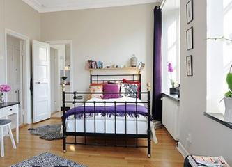 55平北欧小户型欣赏卧室