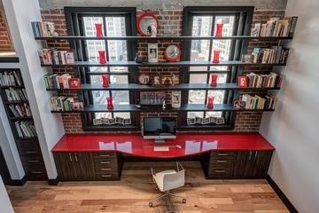多彩混搭复式风欣赏书房设计
