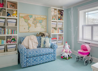时尚感和低调的华丽感,如何搭配美式儿童房色?