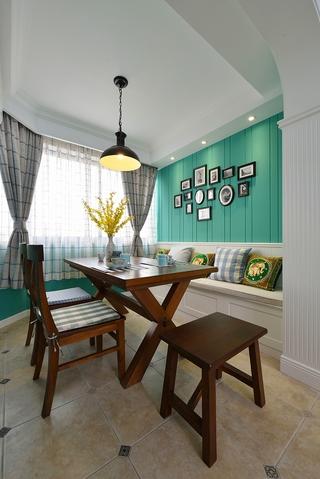 78平绿色美式住宅欣赏餐厅设计