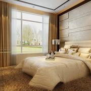 110平新古典三居样板房欣赏卧室窗帘