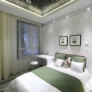 自然清新卧室壁纸装饰 让家更舒适更自然