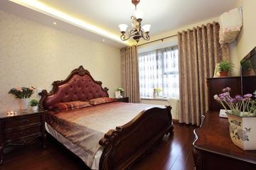 美式风三居室案例欣赏卧室飘窗