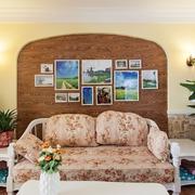 个性创意 田园风格客厅照片墙效果图