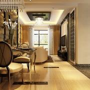 110平新古典三居样板房欣赏餐厅餐桌设计