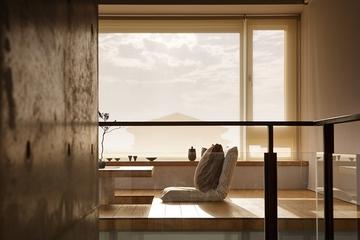 原木色现代别墅欣赏阳台