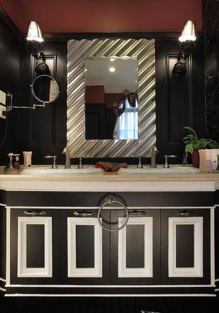 温润儒雅美式样板房欣赏洗手间效果