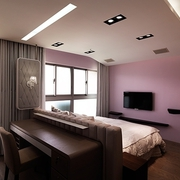 简约白色原味空间设计卧室陈设