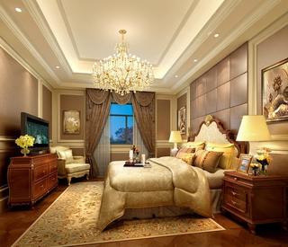 140平欧式大四居欣赏卧室吊顶