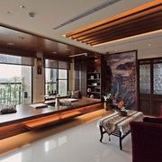 中式禅风两室一厅欣赏客厅
