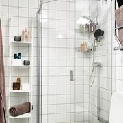 34平白色宜家一居室欣赏卫生间