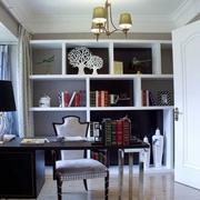 简约舒适三居室案例设计欣赏书房书架