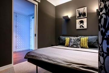 大胆配色113平住宅欣赏卧室效果