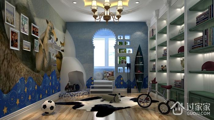 77平地中海住宅欣赏儿童房照片墙