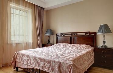 新古典雅致三居欣赏卧室窗帘