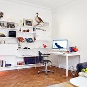 单身最爱的简约一居室欣赏书房
