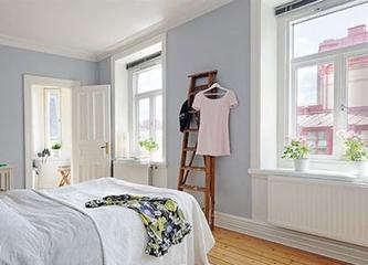 67平白色北欧住宅欣赏卧室
