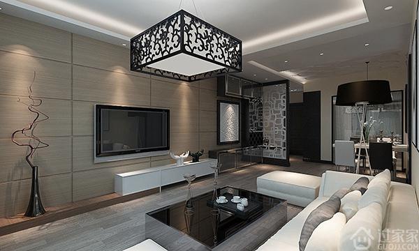 原来电视背景墙也可以这么美,瓷砖电视背景墙效果图