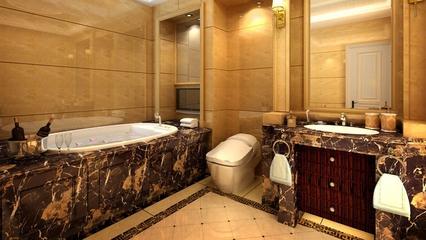 110平美式大三居欣赏卫生间