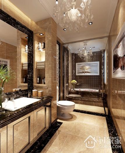 130平奢华欧式风住宅欣赏卫生间吊顶