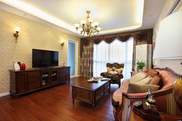 美式风三居室雅居欣赏客厅电视柜设计