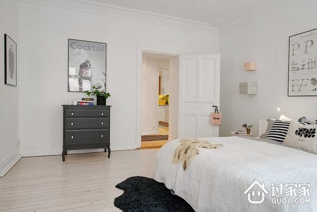 白色北欧两居案例设计欣赏卧室室内门