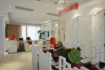 106平现代三居室欣赏餐厅吊顶