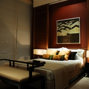 新中式风格背景墙挂画