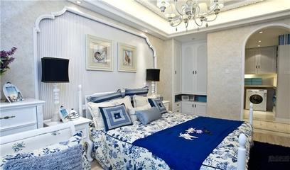 79平蓝色地中海住宅欣赏卧室