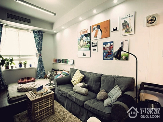 白色格调极简一居室欣赏
