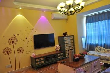 79平田园风三居室欣赏背景墙