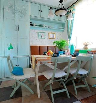 79平地中海小清新住宅欣赏餐厅餐桌