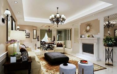 客厅创意灯饰效果图 清洗美式田园家居