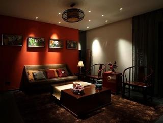 雅致中式住宅欣赏客厅全景