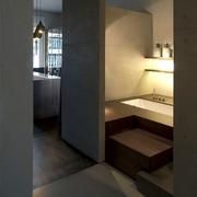 现代风格设计效果浴缸