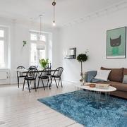 白色北欧两居案例设计欣赏餐厅餐桌设计