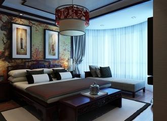中式古典三居室欣赏卧室陈设